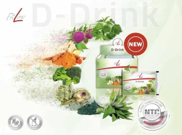 Fitline Basics sáčky - D Drink - Detox balení na 14 dní