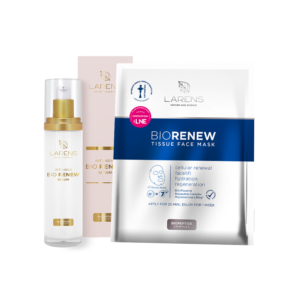 Bio Renew Serum + 1 sáček BIO Renew Tissue Face Mask