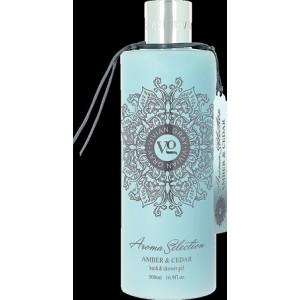 Sprchový gel a pěna do koupele Vivian Gray Ambra a Cedrové dřevo 500ml otevřené balení